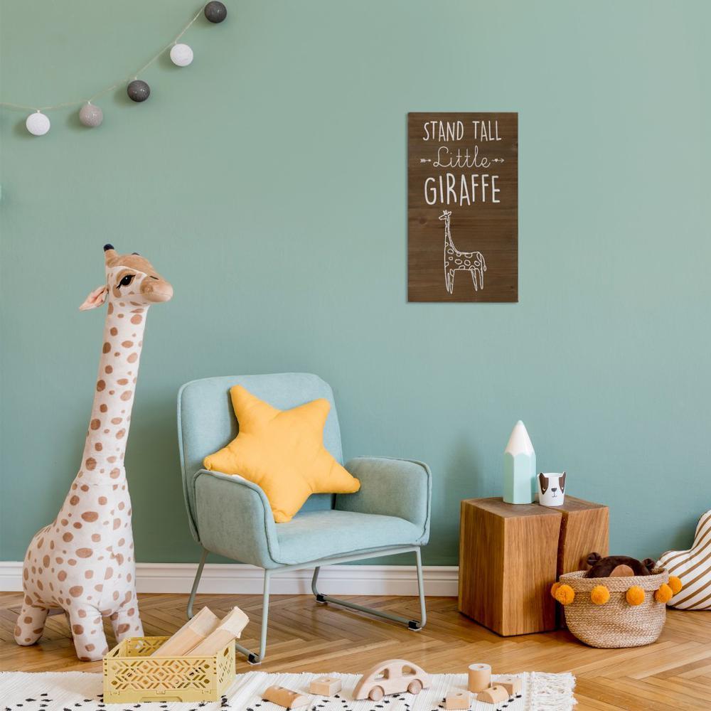 Stand Tall Wooden Giraffe Wall Art - 383287. Picture 6
