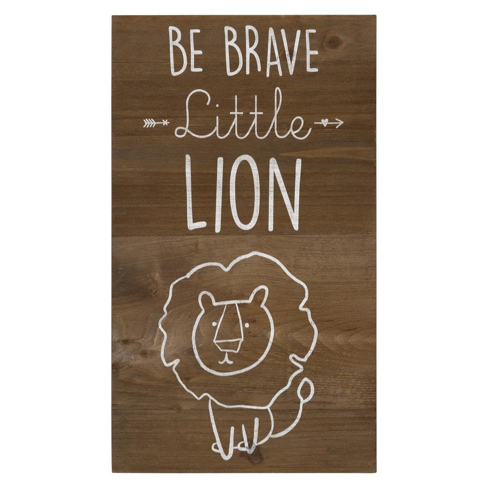 Be Brave Wooden Lion Wall Art - 383288. Picture 1