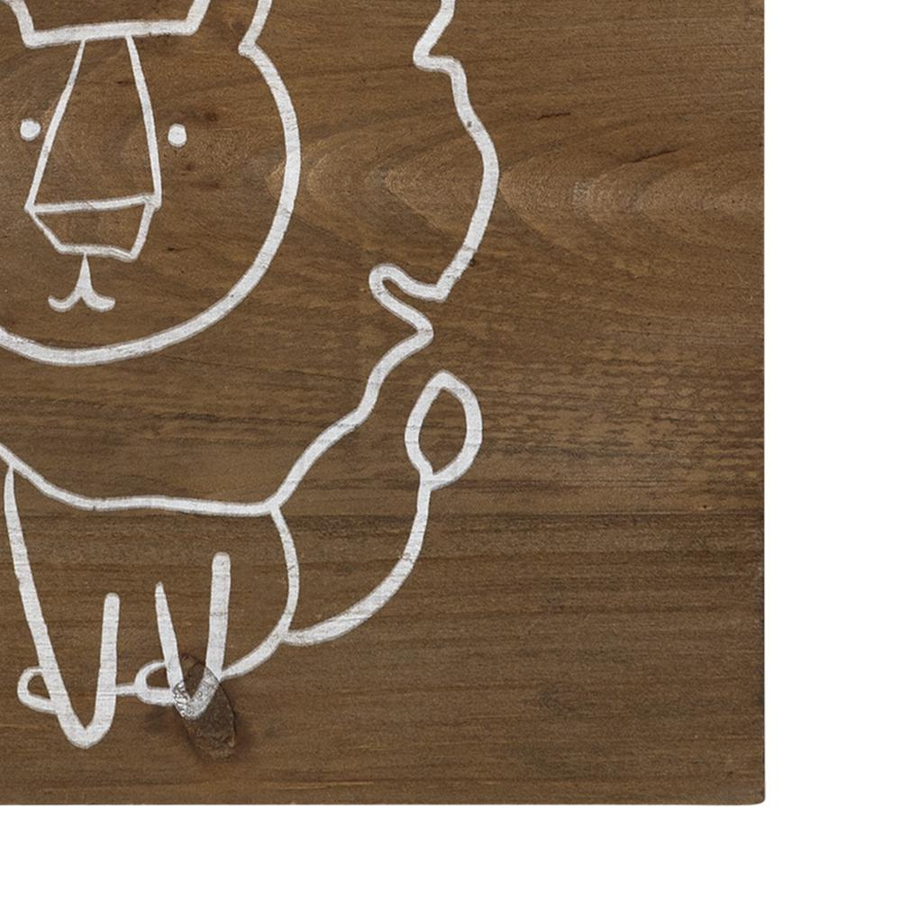 Be Brave Wooden Lion Wall Art - 383288. Picture 3
