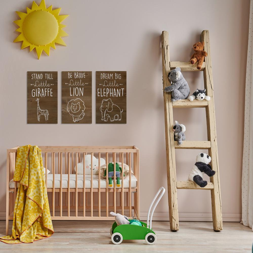 Be Brave Wooden Lion Wall Art - 383288. Picture 7