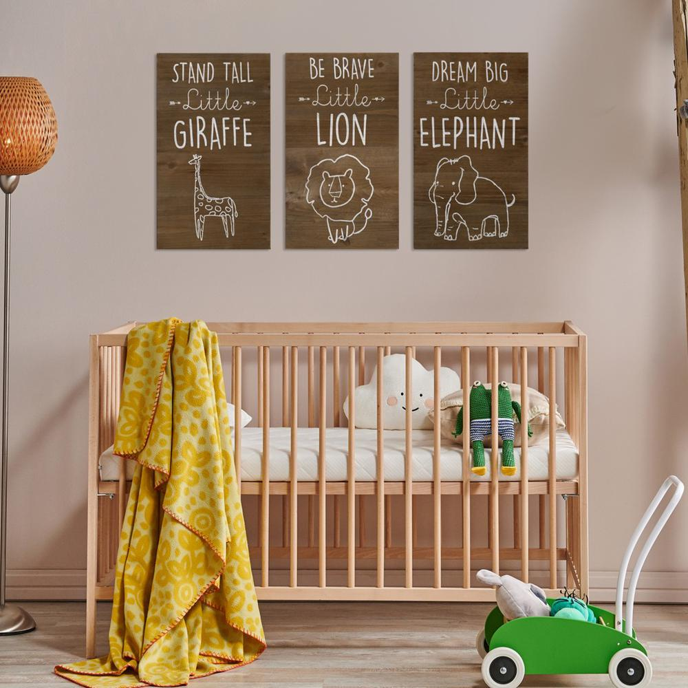 Be Brave Wooden Lion Wall Art - 383288. Picture 8