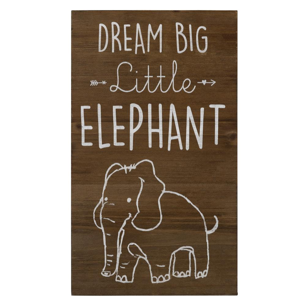 Dream Big Wooden Elephant Wall Art - 383289. Picture 1