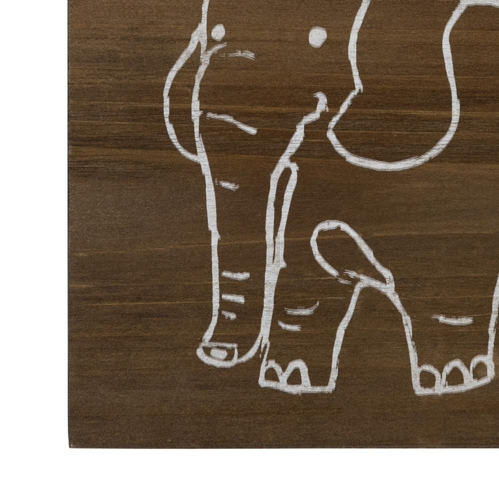 Dream Big Wooden Elephant Wall Art - 383289. Picture 3