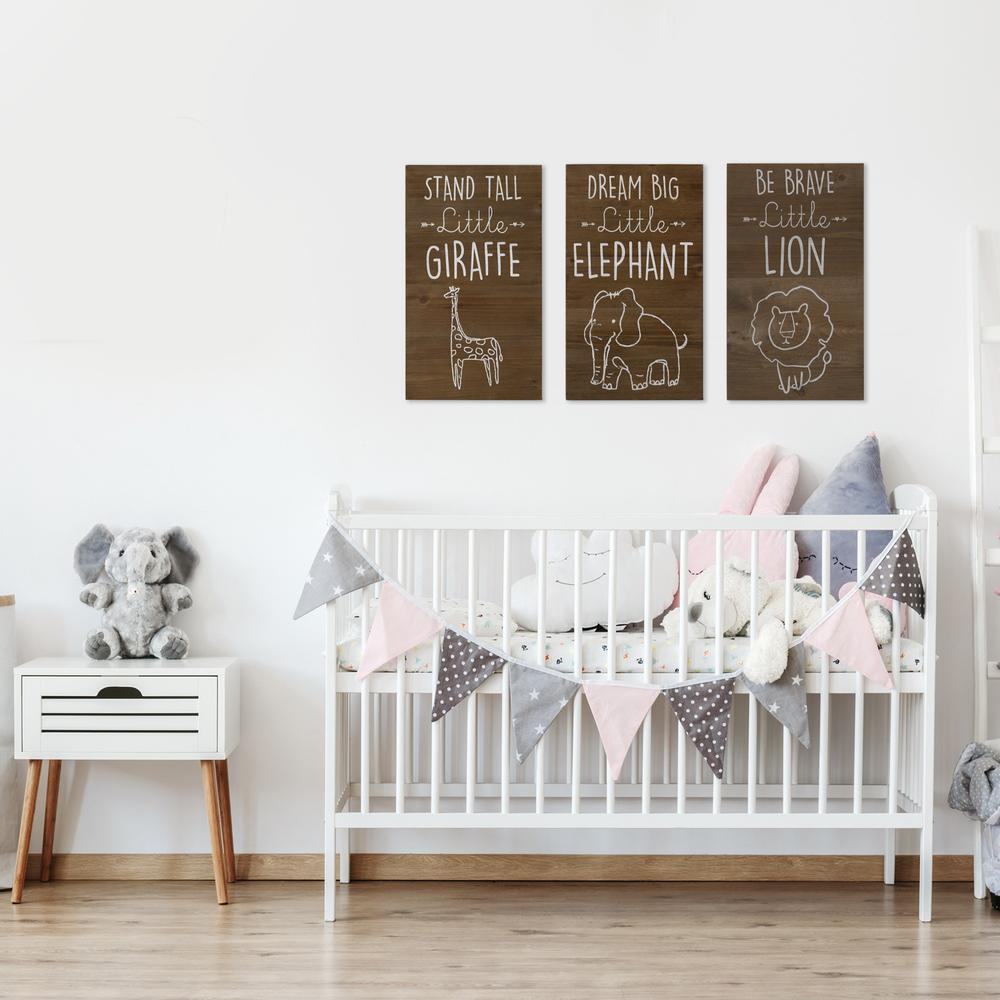 Dream Big Wooden Elephant Wall Art - 383289. Picture 7