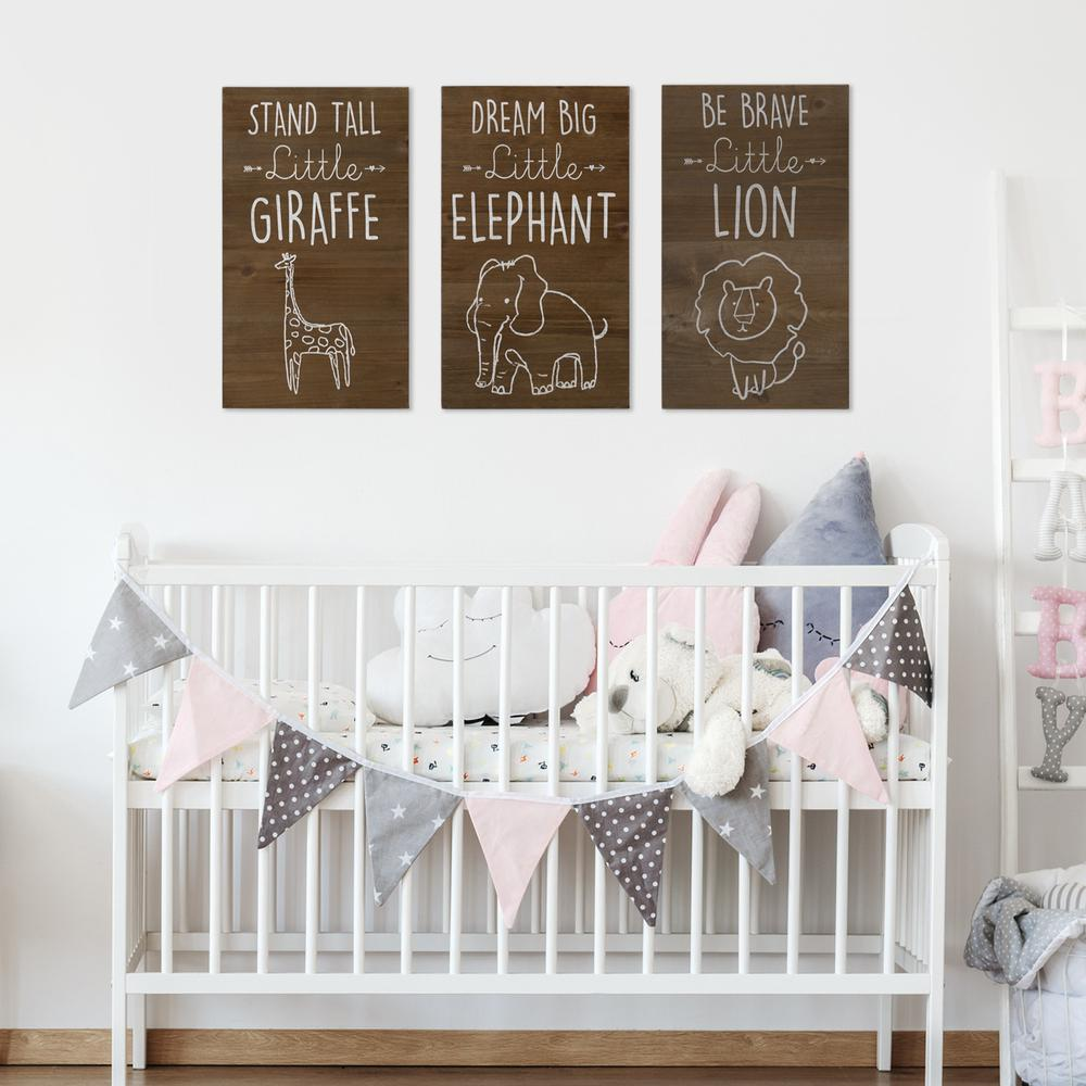 Dream Big Wooden Elephant Wall Art - 383289. Picture 8