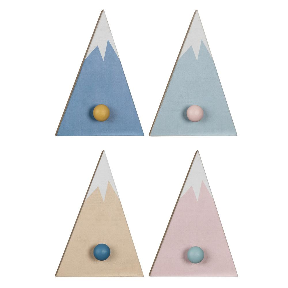 Set of 4 Mountain Shaped Wall Hooks - 383290. Picture 1
