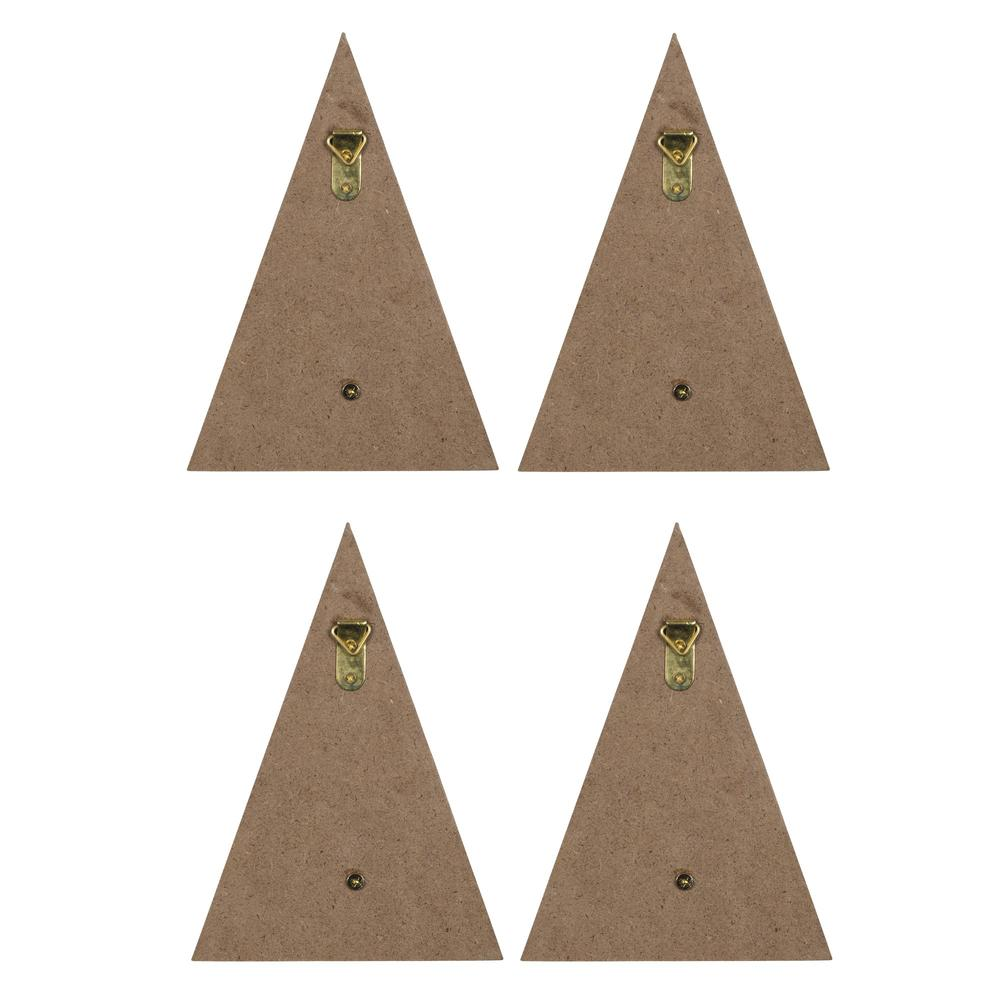 Set of 4 Mountain Shaped Wall Hooks - 383290. Picture 5