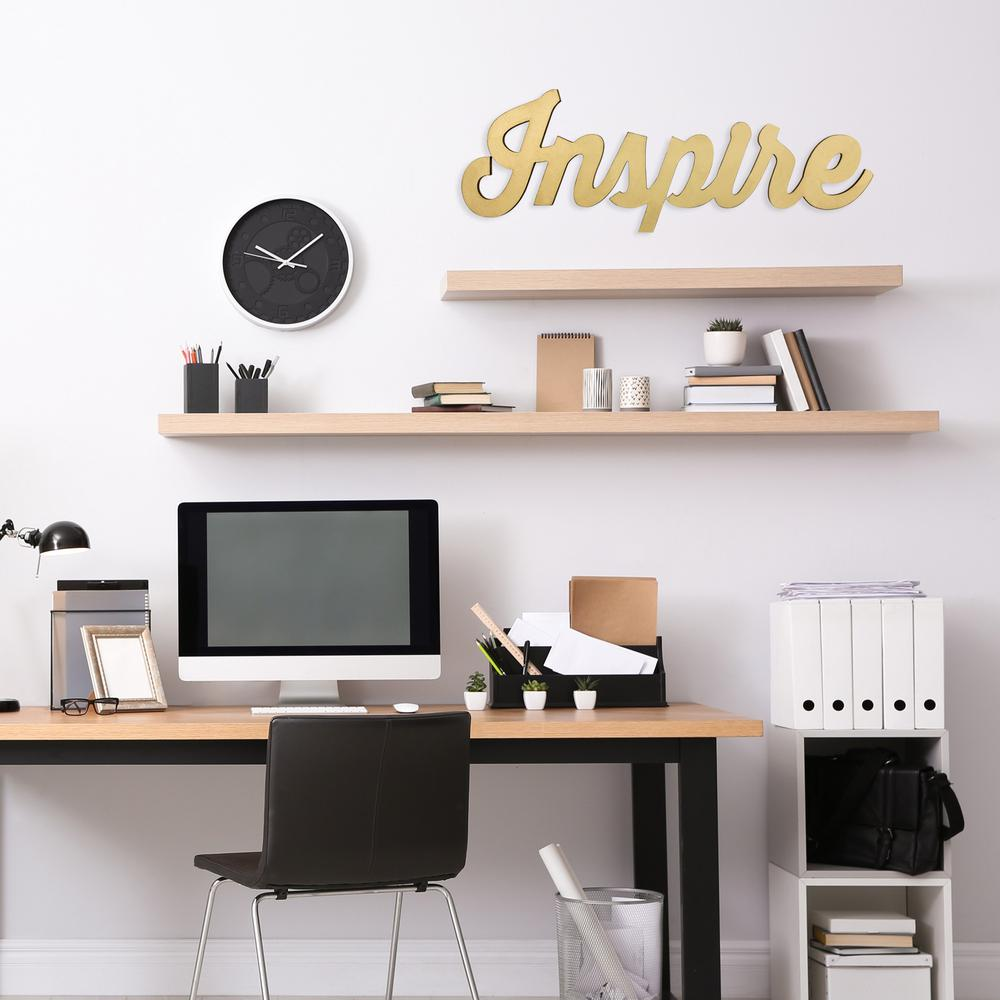 Glossy Golden Inspire Wall Art - 383293. Picture 6