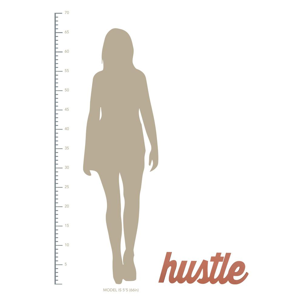 Dark Pink Hustle Wall Sign - 383294. Picture 4