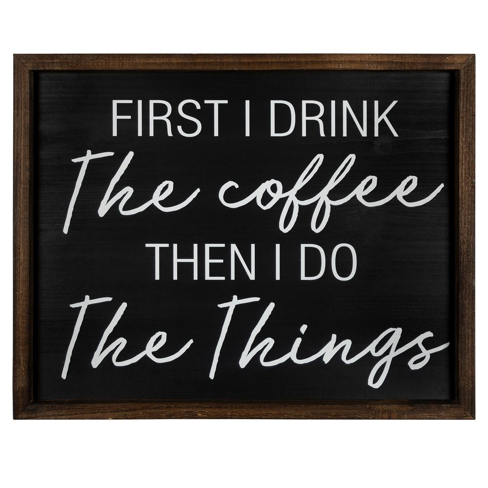 Drink the Cofee Then Do the Things Wall Art - 383297. Picture 1