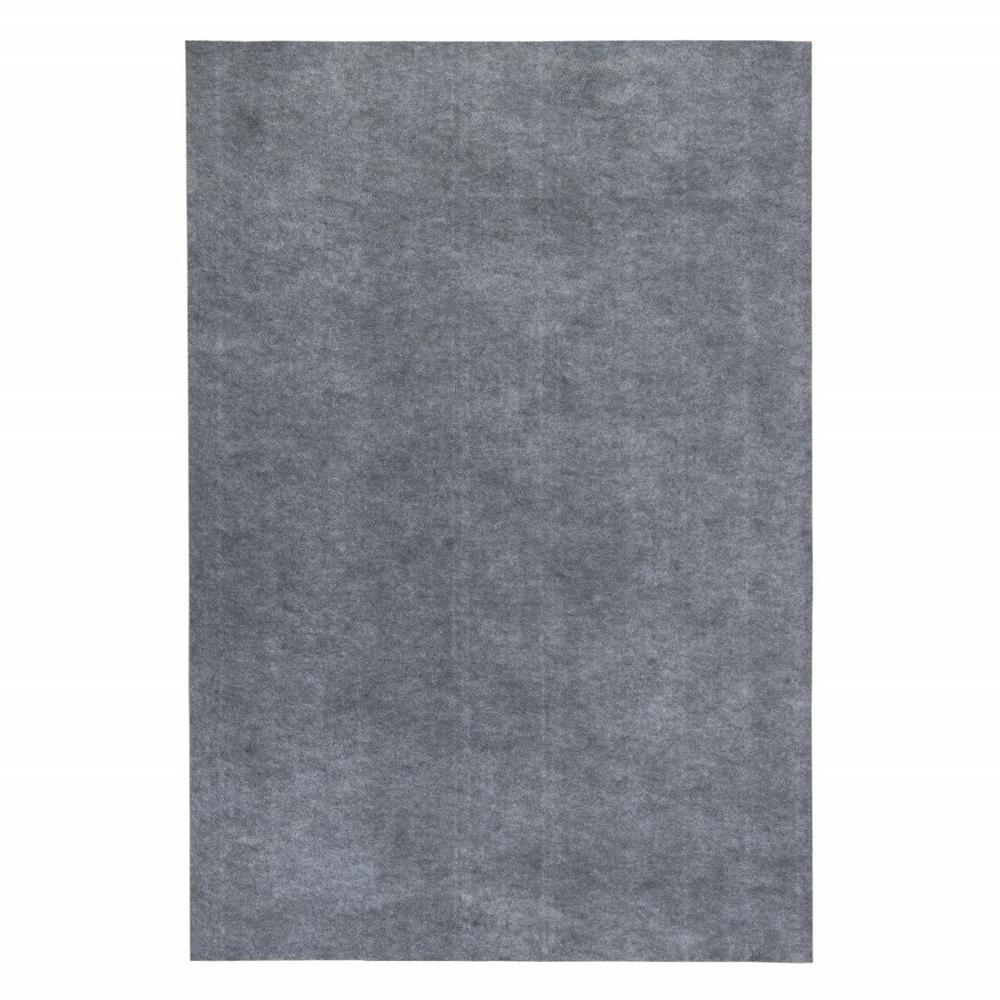 8' Round Grey Premier Rug Pad - 383613. Picture 2