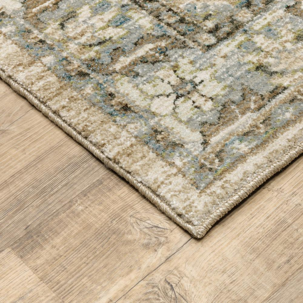 7'x9' Beige and Ivory Medallion Area Rug - 383660. Picture 2