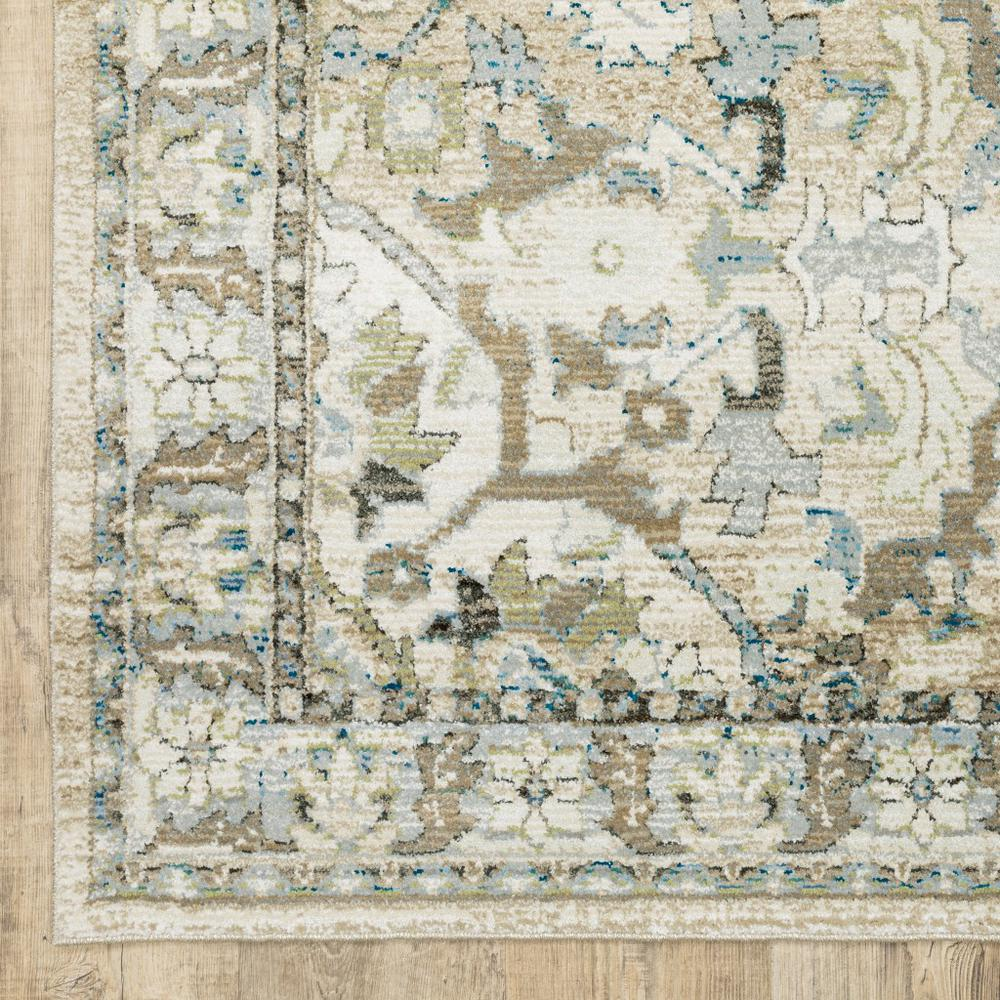 8'x10' Beige and Ivory Medallion Area Rug - 383661. Picture 3