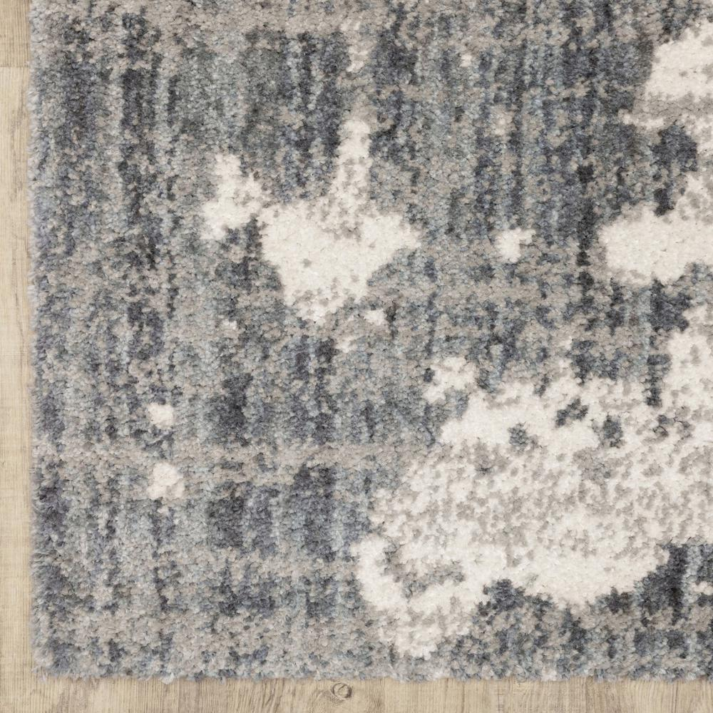 2'x8' Grey and Ivory Grey Matter  Runner Rug - 383664. Picture 2