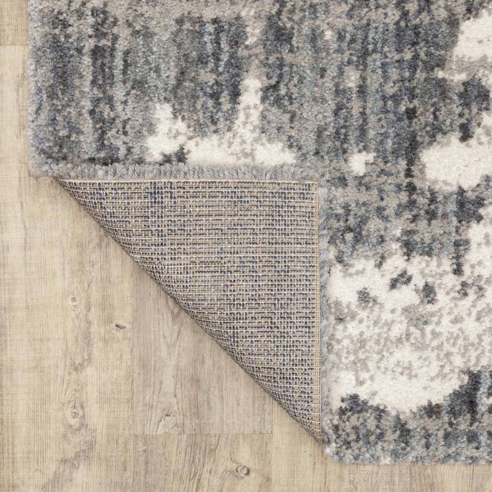 2'x8' Grey and Ivory Grey Matter  Runner Rug - 383664. Picture 3