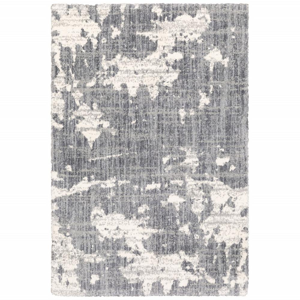 5'x8' Grey and Ivory Grey Matter  Area Rug - 383666. Picture 1