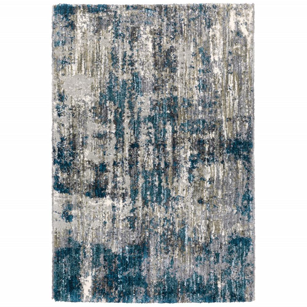 7'x9' Grey and Blue Grey Skies Area Rug - 383673. Picture 1