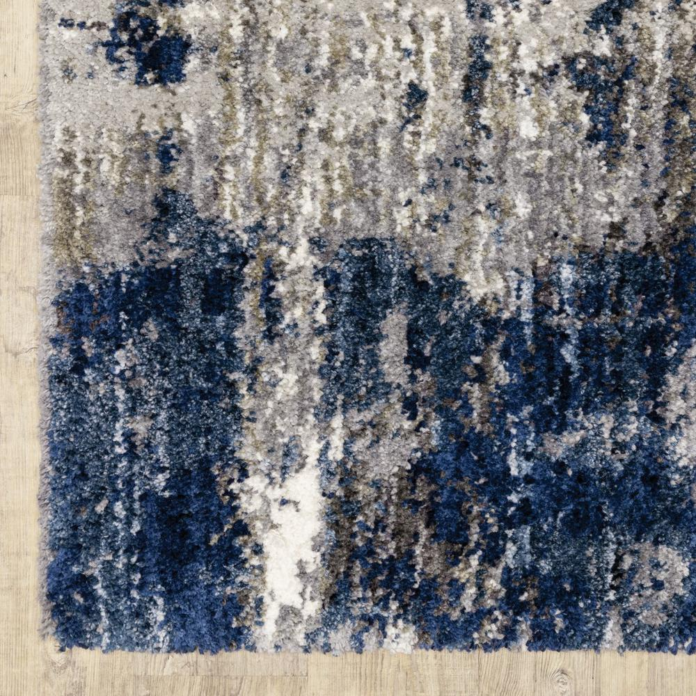 7'x9' Grey and Blue Grey Skies Area Rug - 383673. Picture 2