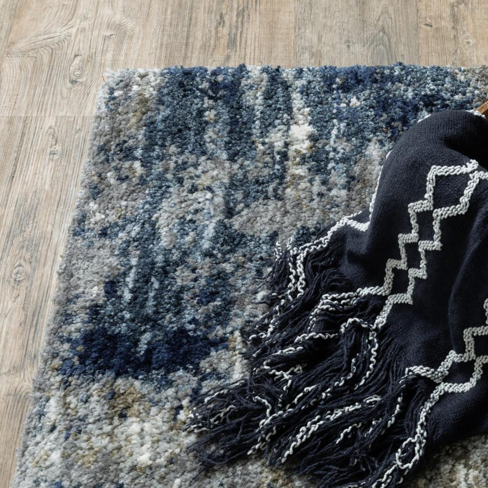 7'x9' Grey and Blue Grey Skies Area Rug - 383673. Picture 3