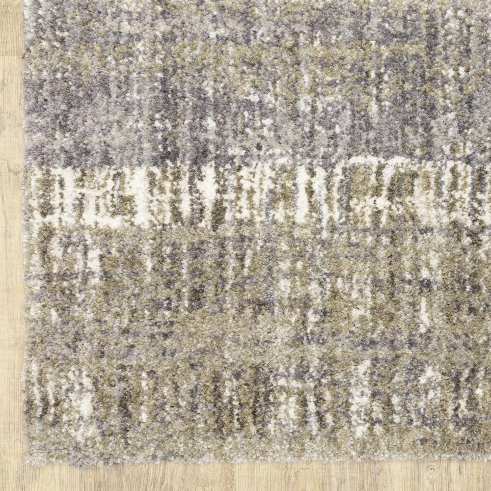 8'x10' Grey and Ivory Abstract Lines  Area Rug - 383680. Picture 2