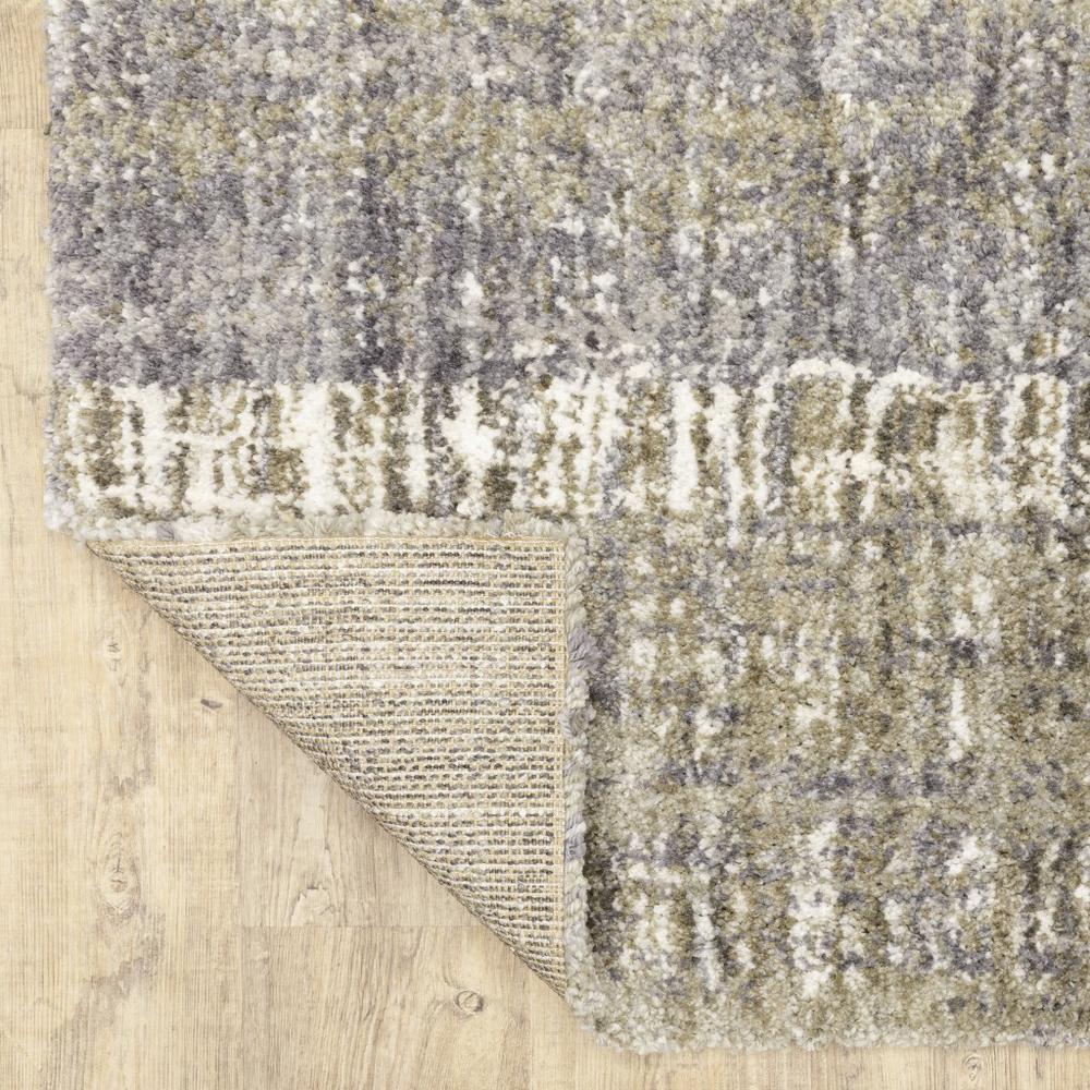 8'x10' Grey and Ivory Abstract Lines  Area Rug - 383680. Picture 3