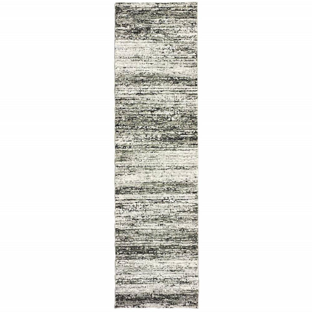 2'x8' Ash and Slate Abstract Runner Rug - 383691. Picture 1