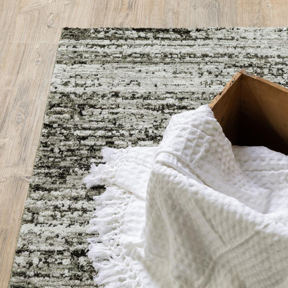 2'x8' Ash and Slate Abstract Runner Rug - 383691. Picture 2