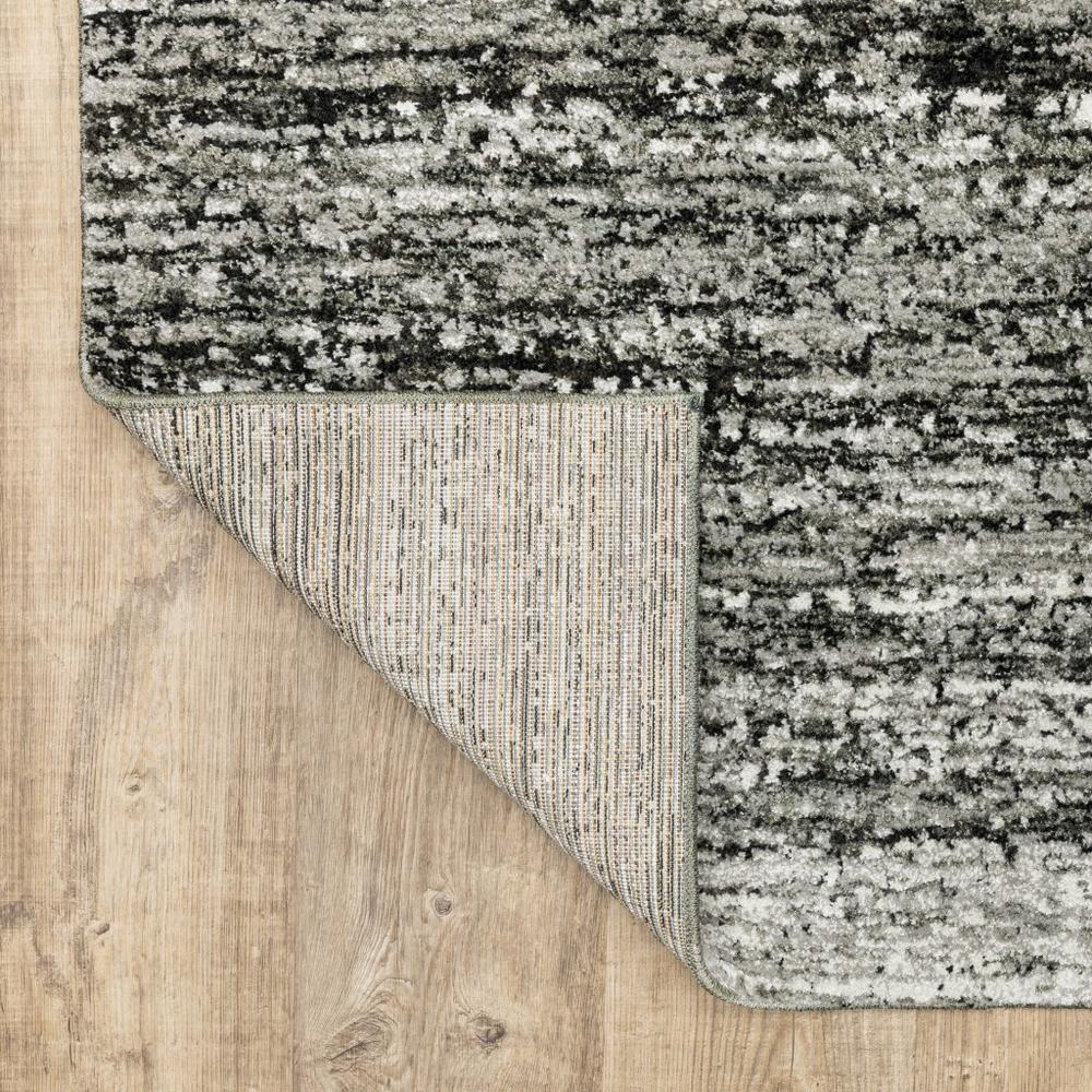 2'x8' Ash and Slate Abstract Runner Rug - 383691. Picture 3
