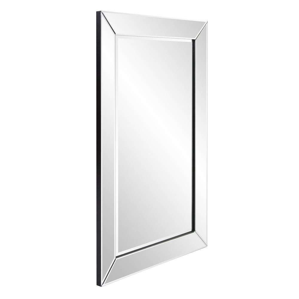 Rectangle Wooden Frame Mirror with Beveled Edge - 383710. Picture 3