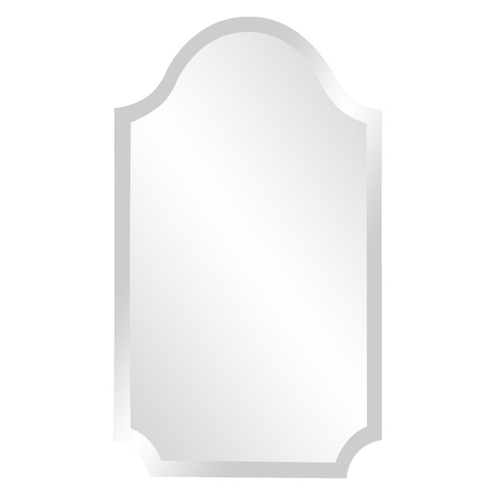 Minimalist Rectangle Arched Glass Mirror with Beveled Edge And Scalloped Corners - 383711. Picture 1