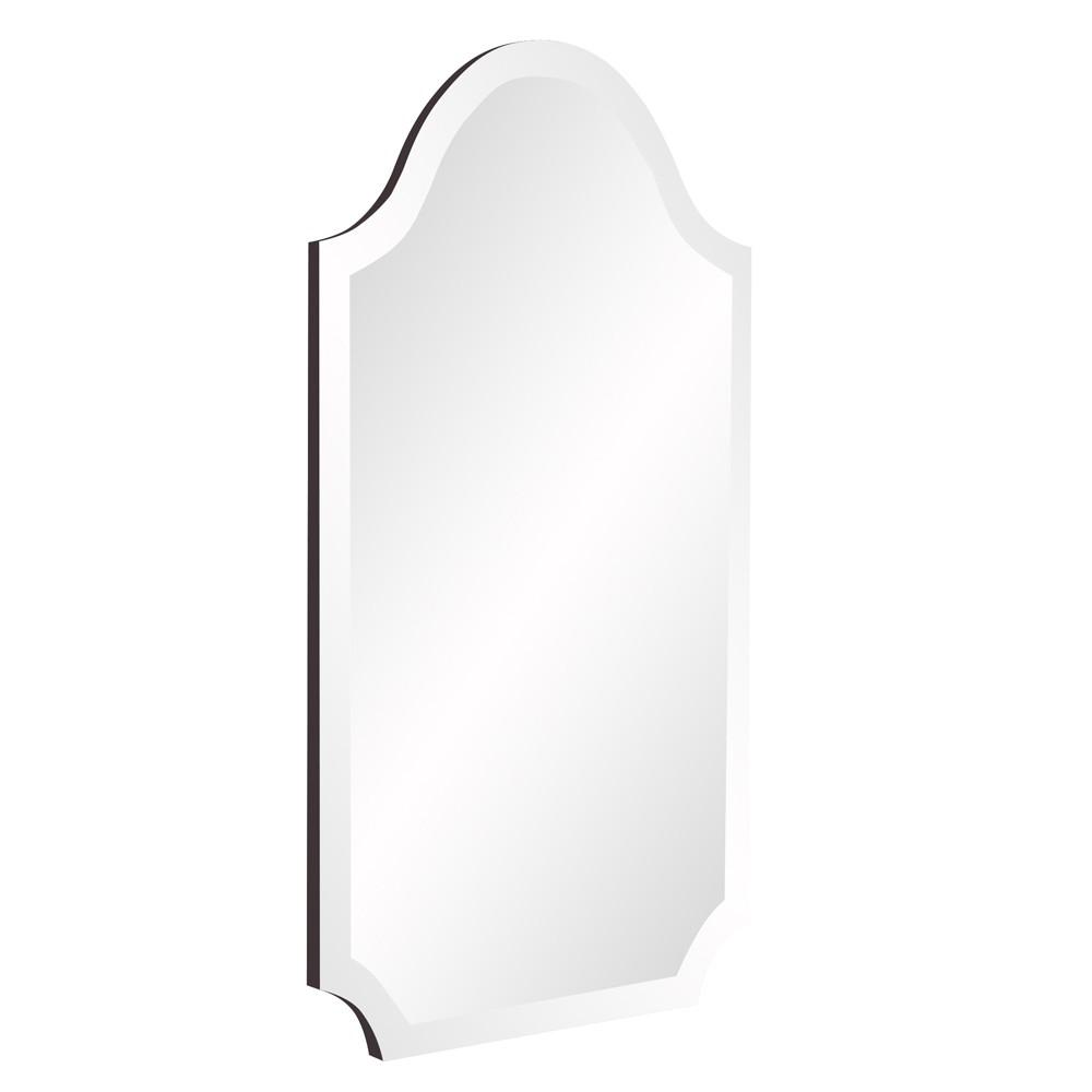 Minimalist Rectangle Arched Glass Mirror with Beveled Edge And Scalloped Corners - 383711. Picture 3