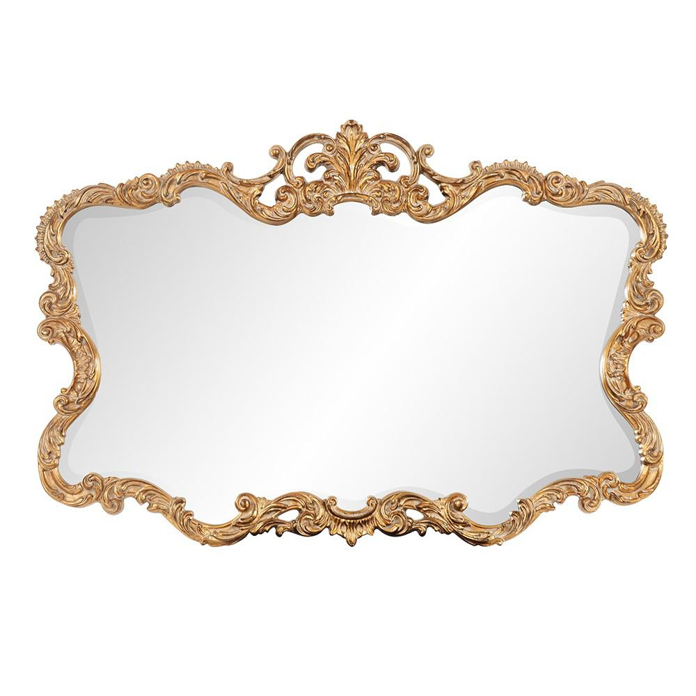 Gold Leaf Mirror with Decorative Textured Frame - 383714. Picture 1