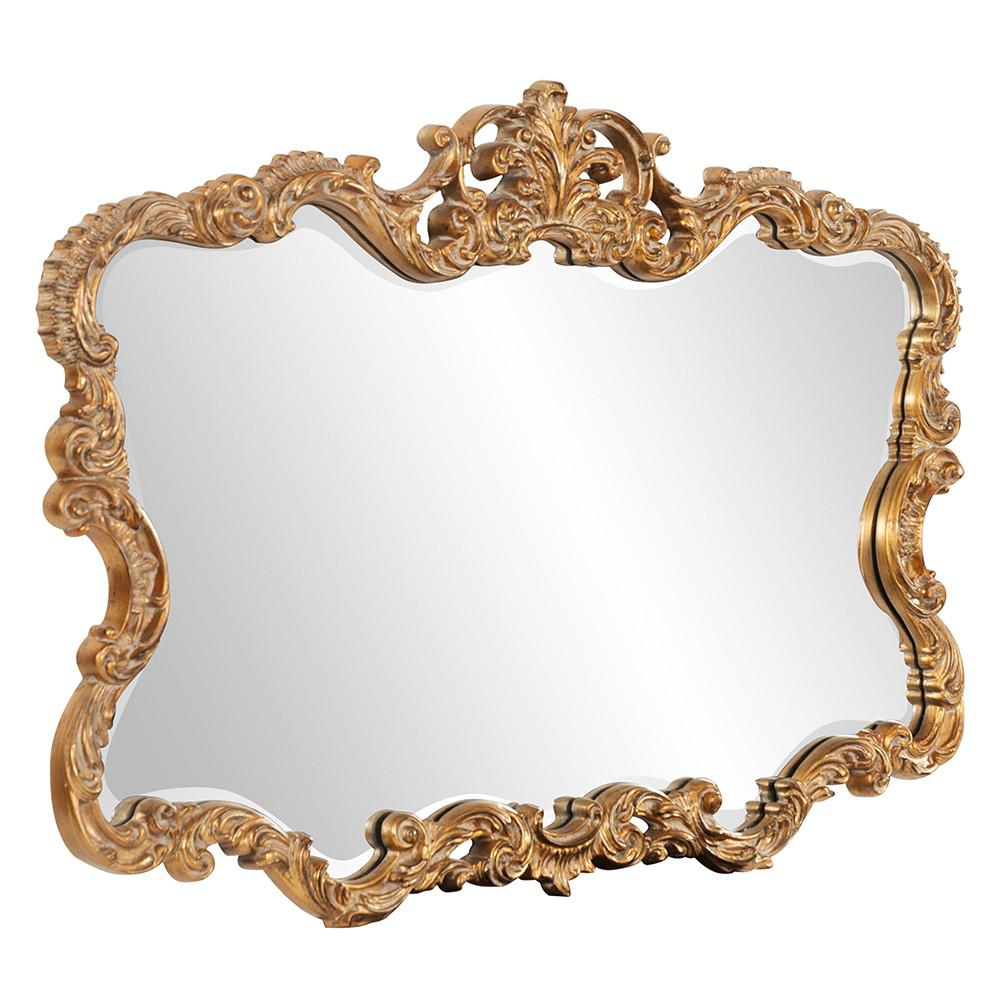 Gold Leaf Mirror with Decorative Textured Frame - 383714. Picture 3