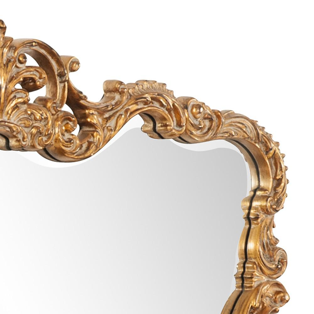 Gold Leaf Mirror with Decorative Textured Frame - 383714. Picture 4