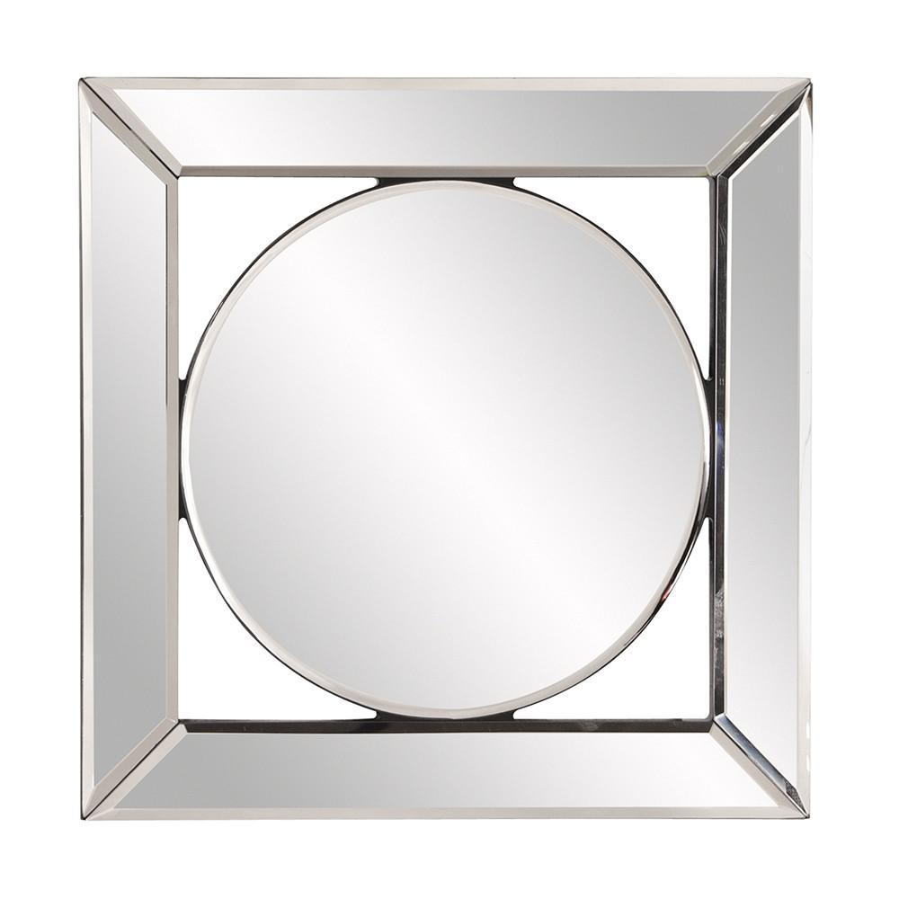 Square Mirror with Center Round Mirror - 383715. Picture 2