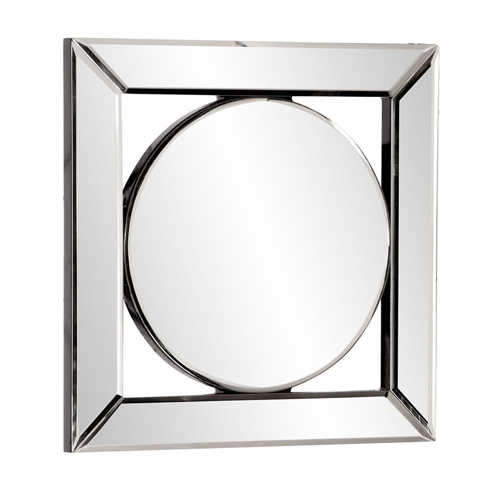 Square Mirror with Center Round Mirror - 383715. Picture 3