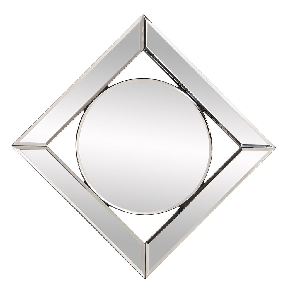 Square Mirror with Center Round Mirror - 383715. Picture 4