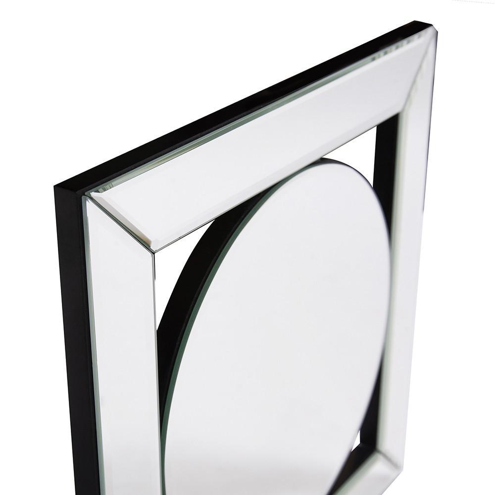 Square Mirror with Center Round Mirror - 383715. Picture 5