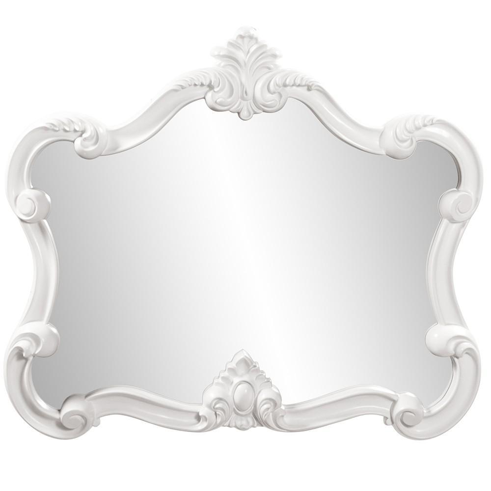 White Baroque Shape Ornate Mirror - 383716. Picture 2