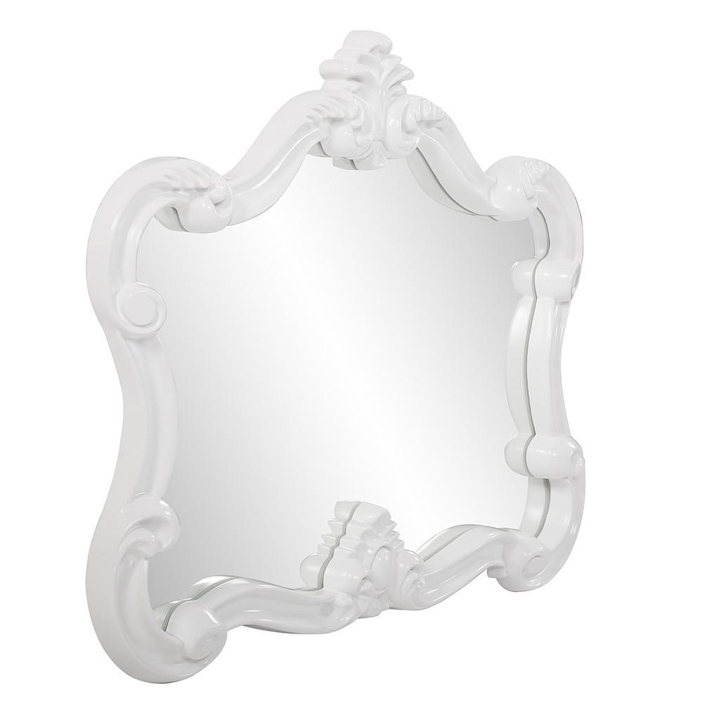 White Baroque Shape Ornate Mirror - 383716. Picture 3