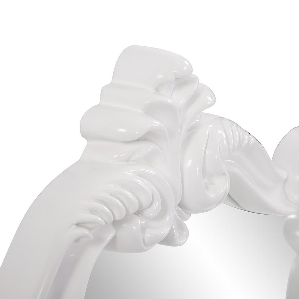 White Baroque Shape Ornate Mirror - 383716. Picture 4