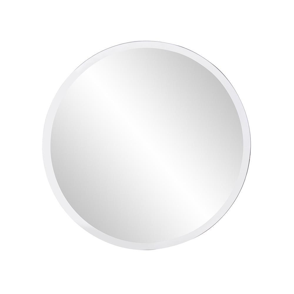 "12"" x 12"" Minimalist Round Mirror with Beveled Edge - 383717. Picture 1"