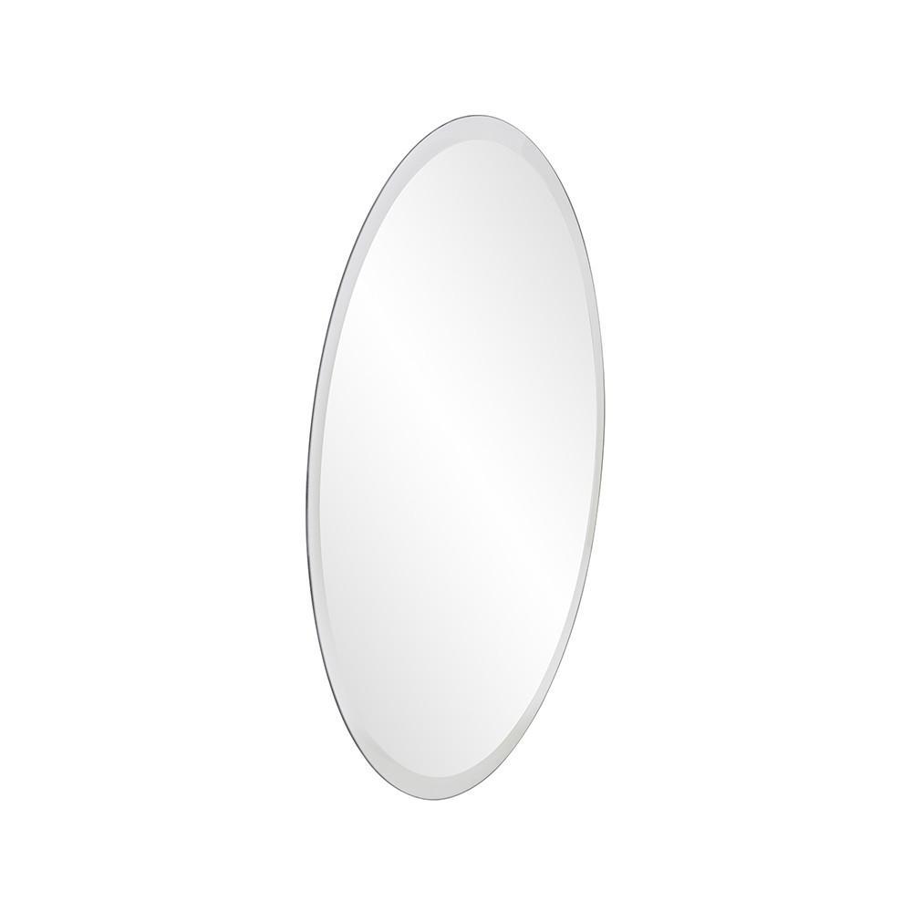 "12"" x 12"" Minimalist Round Mirror with Beveled Edge - 383717. Picture 3"