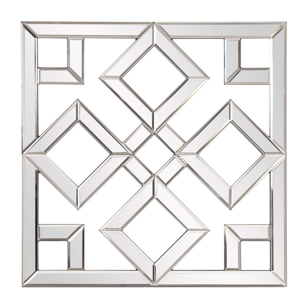 Interlocking Mirrored squares with Lattice Design - 383723. Picture 1