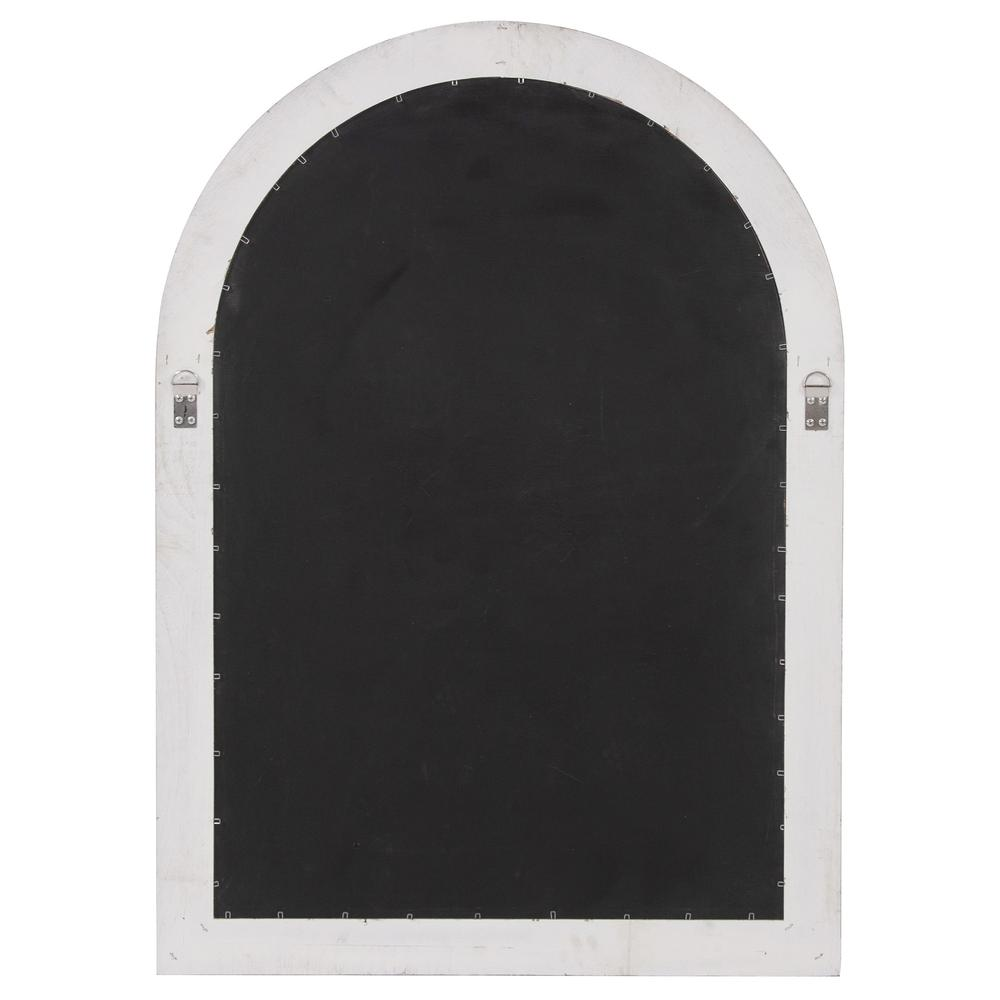 White Washed Mirror with Arched Panel Window Design - 383726. Picture 5