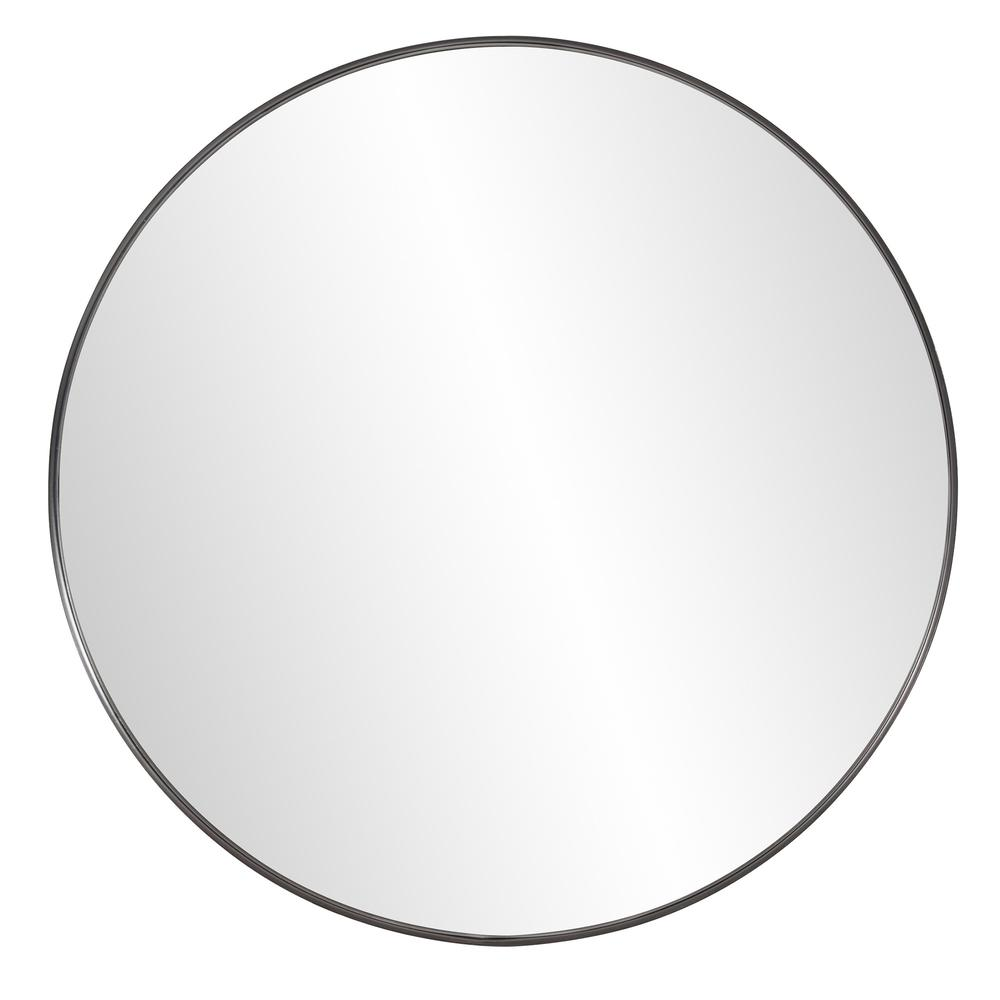 Round Stainless Steel Frame with Brushed Black Finish - 383728. Picture 1