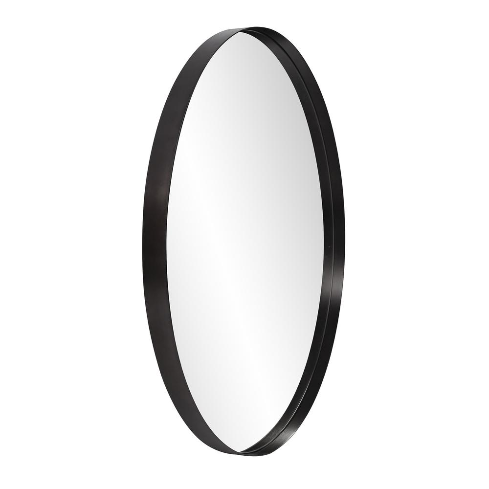 Round Stainless Steel Frame with Brushed Black Finish - 383728. Picture 3