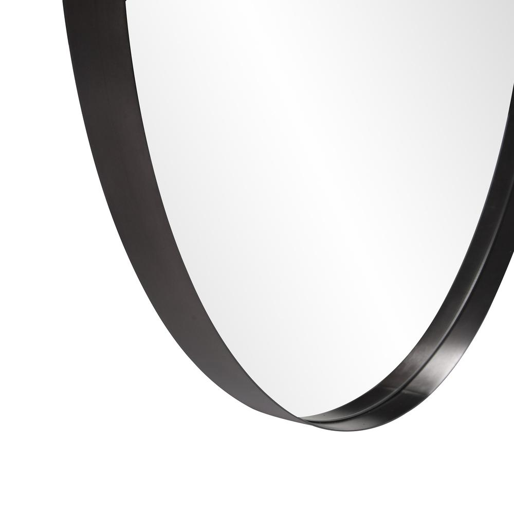 Round Stainless Steel Frame with Brushed Black Finish - 383728. Picture 4