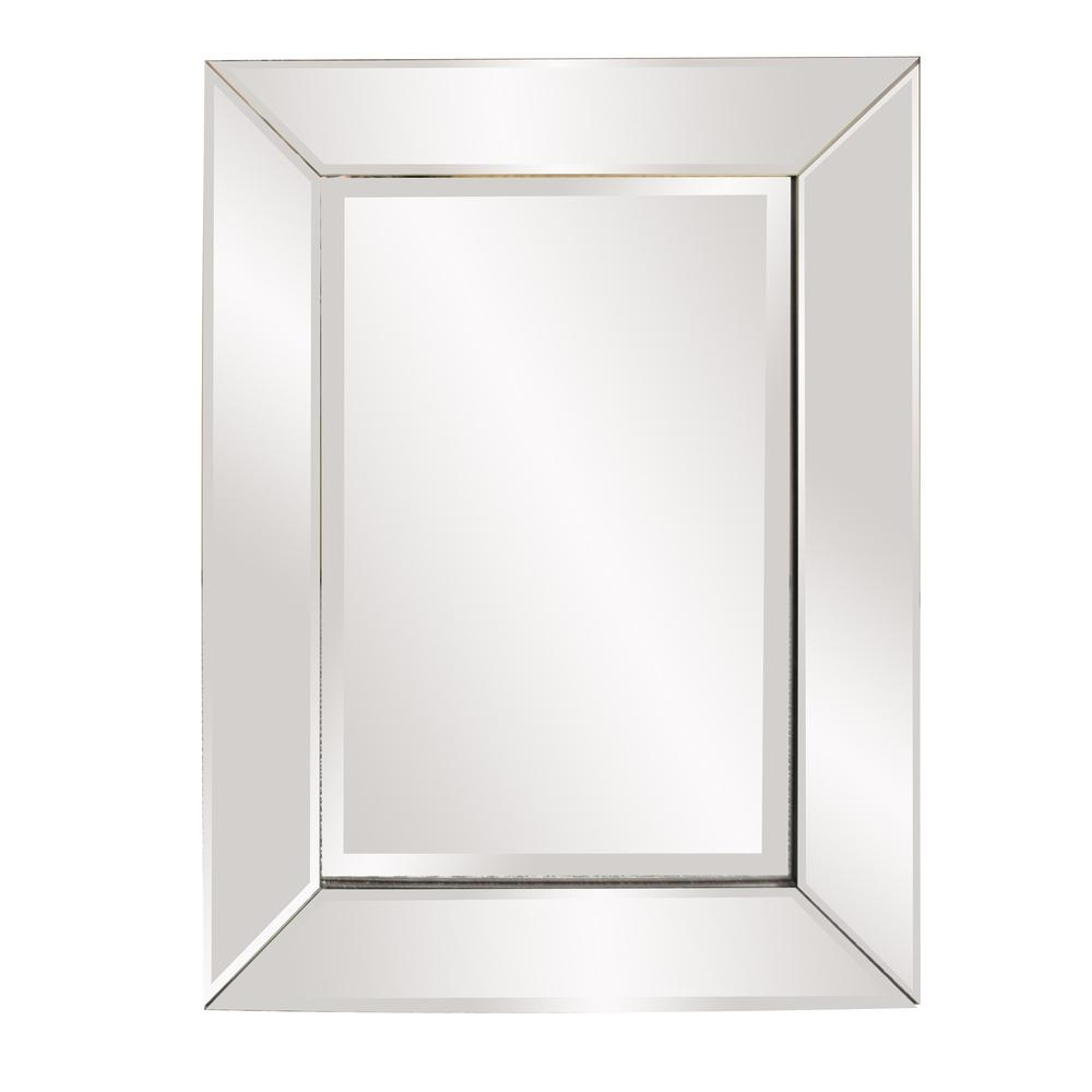Rectangle Frame Mirror with Mirrored Finish And Beveled Edge - 383730. Picture 1