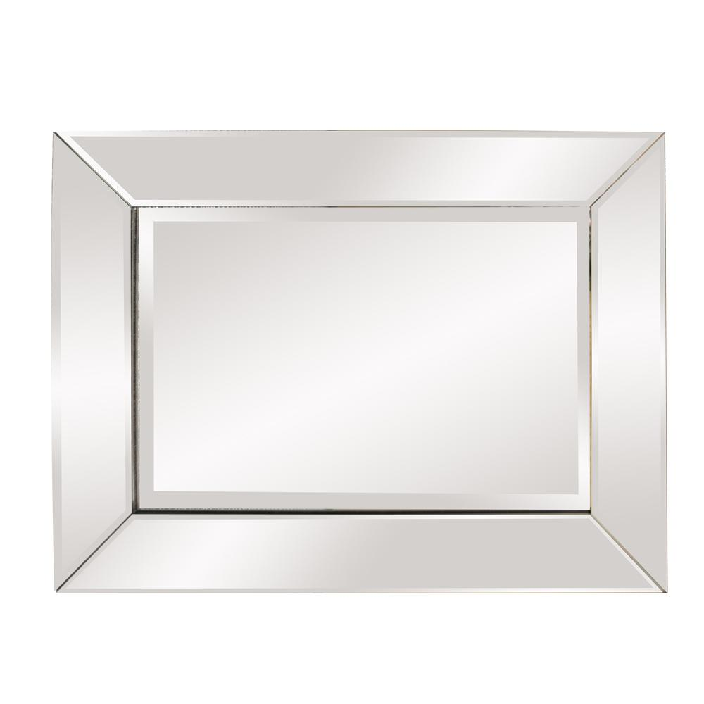 Rectangle Frame Mirror with Mirrored Finish And Beveled Edge - 383730. Picture 4